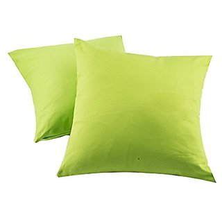 Best Cotton Canvas Decorative Throw Pillow Cushion Insert Included for Car Bed Sofa- (Set of 2),Green