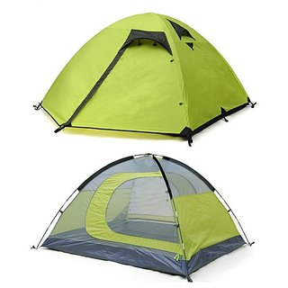 c4d2c1ba9e1 Track Man Three Person Double-layer Waterproof Camping Tent Green for  Outdoor Ventilation Travel