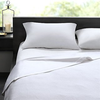 Madison Park Signature 2-in-1 Cotton Sheet Down 300 Thread Count Blanket, King, White