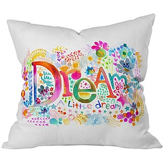 DENY Designs Stephanie Corfee Dream A Little Throw Pillow, 20 x 20