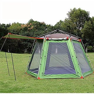 c9d82a37200 FUNS Instant 6 Person Large Hexagonal Dome Tent Double Layer 2-Door Opening  Screened Family Camping Canopy Shelter Tent