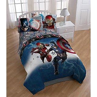 Marvel Captain America Civil War Microfiber Twin Comforter 64in x 86in
