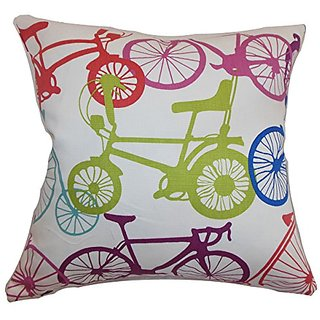 The Pillow Collection Echuca Bicycles Confetti Pillow, 20