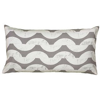 Rizzy Home T06136 Printed Details Decorative Pillow, 11 by 21-Inch, Gray
