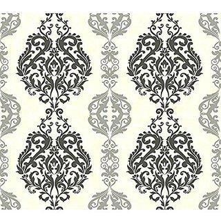 York Wallcoverings GE3697 Ashford Geometrics Chalet Wallpaper, Dark/Medium/Light Grey