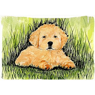 Carolines Treasures SS8476PILLOWCASE Golden Retriever Moisture Wicking Fabric Standard Pillowcase, Large, Multicolor