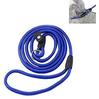 Futaba Pet Nylon Rope Training Slip Lead Strap Adjustable Leash -Blue - Large
