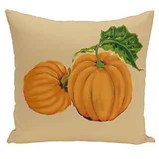 E By Design O5PHN334YE4-18 Pumpkin Patch Holiday Print Pillow, 18