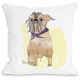 Bentin Home Decor Terrier Throw Pillow w/Zipper by Judit Garcia Talvera, 18