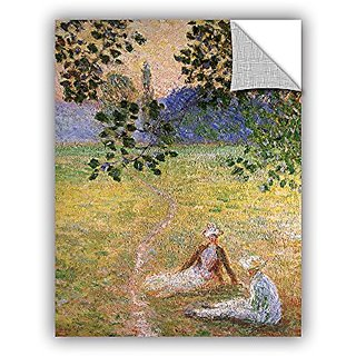 ArtWall Claude Monets Eve in The Meadow of Giverny Art Appeelz Removable Graphic Wall Art, 36 by 48