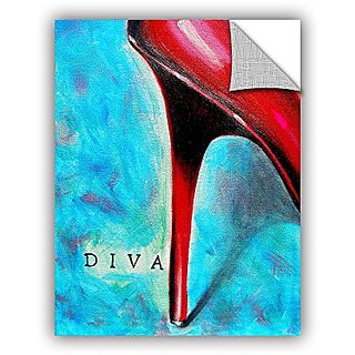 ArtWall Susi Francos Diva Art Appeelz Removable Graphic Wall Art, 24 by 32