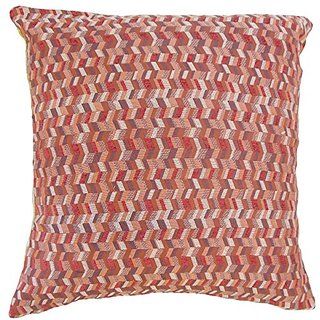The Pillow Collection Bloem Chevron Geranium Pillow, 20