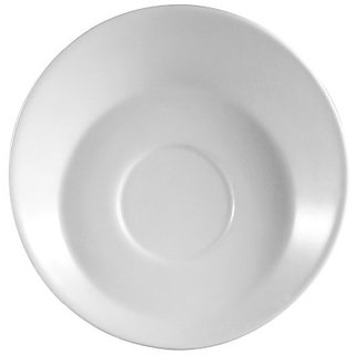 CAC China SHER-36 Sheer 4-1/2-Inch Bone White Porcelain Saucer, Box of 36
