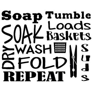 Wall Decor Plus More WDPM3730 Laundry Room Wall Decal Letters, Soak, Wash, Dry, Fold - Vinyl Stickers, Black,, 23x18