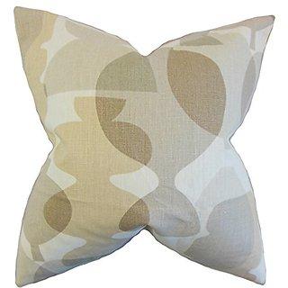 The Pillow Collection P20-PT-POTS-SANDSTORM-L100 Orla Geometric Pillow, Sandstorm, 20