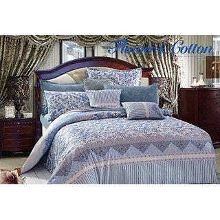 Cc&dd- Royal Style Duvet Cover Set 3pc,100% Cotton, Includes 1 Duvet Cover ,2 Pillowcase ,Queen-size (Hf49)