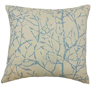 The Pillow Collection P18-OFFSHOOT-CORNFLOWER-L100 Isi Graphic Pillow, Cornflower