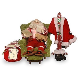 National Tree Sofa with Santa, 16-Inch