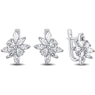 Karats Silver925 Earring in Marquise Collection - Option 9