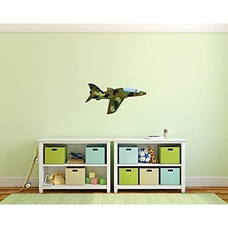 Design with Vinyl 3 Pro 156 Decor Item Military Airplane Army Fatigue Aircraft Wall Decal Peel and Stick Sticker Mural,