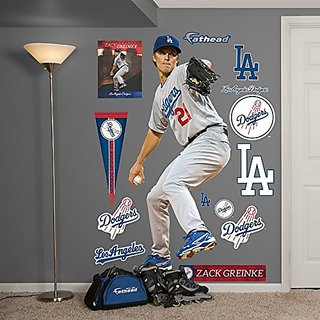 MLB Los Angeles Dodgers Zack Greinke Fathead Wall Decal, Real Big