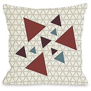 Bentin Home Decor Natasha Geometric Triangles Throw Pillow by OBC, 26