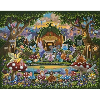 The Fairy Family 50pc 16x20 Jigsaw Puzzle by Eric Dowdle