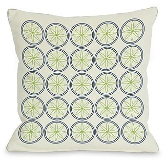 Bentin Home Decor Circles & Flowers Throw Pillow by OBC, 18