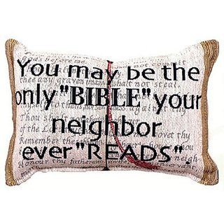 You May Be The Only Bible Tapestry Toss Pillow USA Made