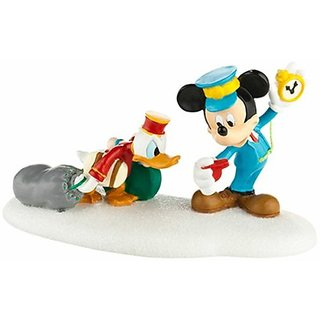 Department 56 Disney Village Hurry Up Donald Figurine, 2.25-Inch