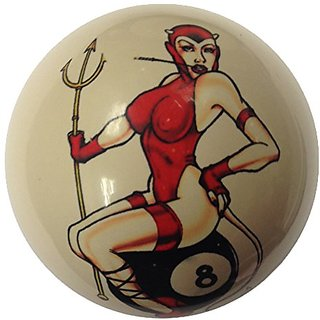 Queen on 8 Ball Cue Ball Custom for Pool Players by D&L Billiards