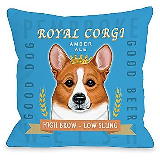 Bentin Home Decor Corgi Throw Pillow by Retro Pets, 18