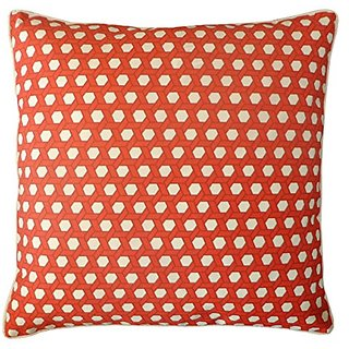 Jiti Lanyard Red Outdoor Throw Pillow, 20 by 20