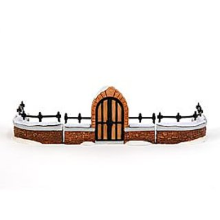 Dept 56 Heritage Village Collection Churchyard Gate and Fence, Retired Handpainted Porcelain Accessories (#5806-8, Dicke