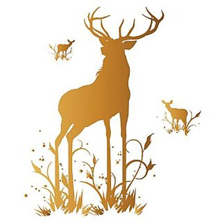 Surface Collective Oh, Deer Wall Decal, Gold