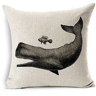 YouYee Simmias Cotton Linen Square Decorative Throw Pillow Case Cushion Cover(18*18) (style7)