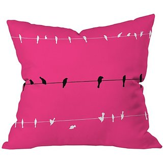 DENY Designs Shannon Clark Neon Nature Throw Pillow, 16 x 16