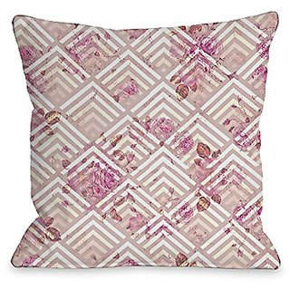 Bentin Home Decor Saeko Scale Floral Throw Pillow w/Zipper by OBC, 18