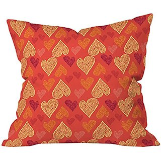 DENY Designs Julia Da Rocha I See Hearts Throw Pillow, 20 x 20