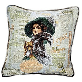 Tache Home Fashion 1354-1PC 1 Piece Puppy Day Out Cushion Cover