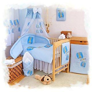 Blueberry Shop Baby Cot Bed Bundle Duvet+Pillow Covers + Bumper 35.5
