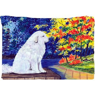 Carolines Treasures SS8240PILLOWCASE Great Pyrenees Moisture Wicking Fabric Standard Pillowcase, Large, Multicolor