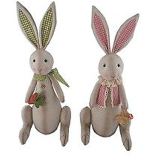 Craft Outlet Assorted Fabric Standing Bunnies