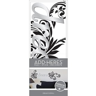 Lot 26 Studio Dream Scroll Peel-n-Stick and Adhesive Mirror Wall Decals, 22 by 12-Inch