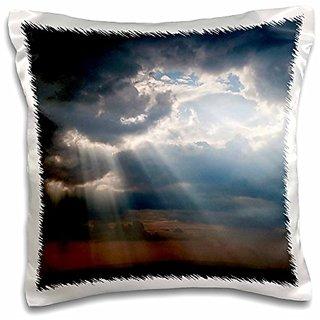 3dRose Sky after thunderstorm, Maasai Mara Reserve, Kenya - AF21 KSU0069 - Keren Su - Pillow Case, 16 by 16-inch (pc_131