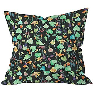 DENY Designs Rachelle Roberts Midnight Picnic Throw Pillow, 26 x 26