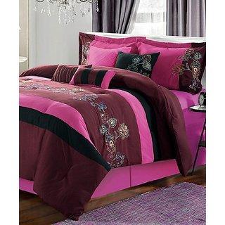 Chic Home Design Purple Mandalay Comforter Set - Queen