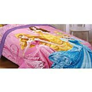 Disney Princesses Sparkling Elegance Reversible 72 by 86-Inch Comforter, Twin/Full