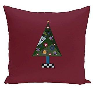 E By Design PHN266RE4-16 Crazy Christmas Decorative Holiday Print Pillow, 16