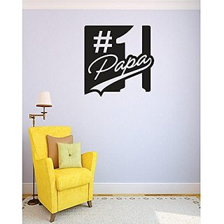 Design with Vinyl 4 C 2371 Decor Item Number 1 Papa Image Quote Wall Decal Sticker, 30 x 30-Inch, Black